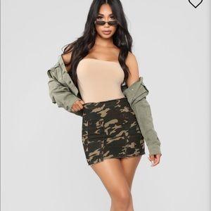 Fashion Nova Cadet in Charge skirt